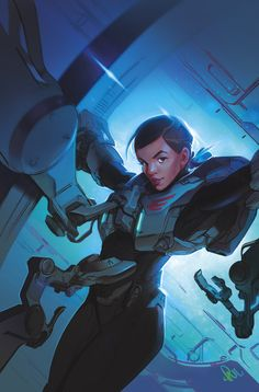 HALO: INITIATION #2 (of 3)  Brian Reed (W), Marco Castiello (A), Michael Atiyeh (C), and Paul Richards (Cover)   On sale Sept 11  FC, 32 pages  $3.99  Miniseries  Halo—one of the most iconic video game franchises in history—comes to Dark Horse!   The UNSC Infinity, the UNSC's newest and most sophisticated flagship,proves to be a tempting target for a group of insurgents. It's up to Sarah Palmer and a bunch of rookie Spartans to defend Infinity, but are they up to the task?
