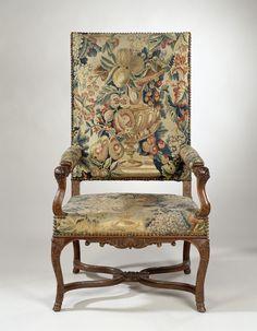 Charmant Armchair, Aubusson, C. 1700   C. 1725. Rijksmuseum, Public Domain