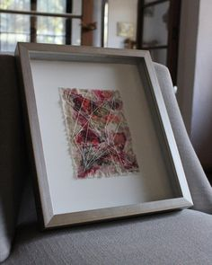 "Serie ""Luz y Sombra"". Acrílico y bordado sobre algodón. 30 x 37 cm con marco. 2017. Foto @textilesxme Instagram, Home Decor, Light And Shadow, Lights, Embroidery, Artists, Photos, Interior Design, Home Interior Design"