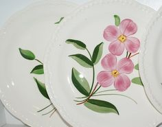 Dinner Plates Hand Painted Stetson by redemptionart on Etsy, $20.00