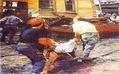 """""""J'est un je"""" exposición de pintura de historia de Simeón Sáiz Ruiz en el Antiguo Convento de las Carmelitas Marzo 1997 #AntiguoConventoCarmelitas #Cuenca #SimeonSaizRuiz"""