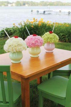 Ice cream shake flor