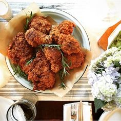 Rosemary-brined buttermilk fried chicken | https://instagram.com/p ...