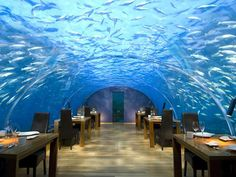 Ithaa Underwater Restaurant on Rangali Island