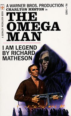 The Omega Man book cover based on I am Legend by Richard Matheson Fiction Movies, Science Fiction Books, Sci Fi Movies, Pulp Fiction, Cult Movies, Sci Fi Books, Cool Books, Classic Sci Fi, Classic Movies