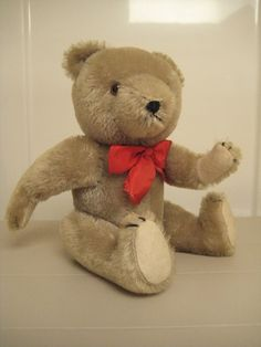 Hermann Vintage Gray Teddy Bear  10 Inches Tall  by GrandmaJer, $37.99