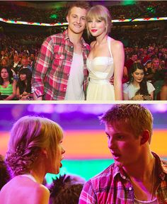 Alexander Ludwig and Taylor Swift at the KCA's last night. thy should make babies.