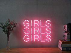 Girls Girls Girls Real Glass Neon Sign For Bedroom Garage Bar Man Cave Room Home Decor Handmade Artwork Wall Lighting Includes Dimmer Neon Lights Bedroom, Neon Sign Bedroom, Bedroom Lighting, Bedroom Wall, Bedroom Signs, Room Lights, Neon Light Signs, Led Neon Signs, Neon Signs Home