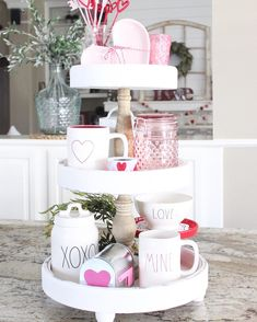 Finally got my Valentine's Day tray all decorated thanks to help from my sweet little toddler today😍(be sure and check my story😂) This new… 3 Tier Stand, Tiered Stand, Valentine Day Love, Valentine Day Crafts, Valentines Hearts, Funny Valentine, Valentines Day Decorations, Tray Decor, Do It Yourself Home