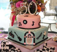 Birthday Cake Photos - 50's - sock hop theme 50th birthday cake