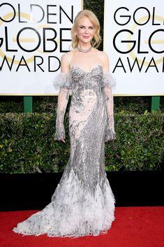 Nicole Kidman Dress: Alexander McQueen Jessica Biel, Sarah Jessica Parker, Jessica Chastain, Nicole Kidman, 74th Golden Globe Awards, Golden Globes, Olivia Culpo, Sienna Miller, Jenny Packham
