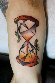 geometric hourglass tattoo | by Deanna Wardin @ Tattoo Boogaloo