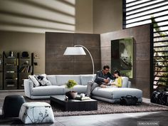 #Natuzzi Erasmo Sofa - fabric - available at #EuroCreations, Thailand
