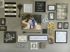 Wall Decor Ideas stepstep instructions on how to create a gallery wall. big