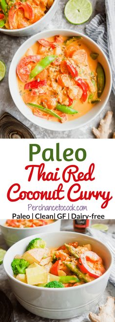 Paleo Thai Red Coconut Curry (GF) | Perchance to Cook, www.perchancetocook.com