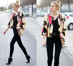 MORE PICTURES ON MY BLOG http://www.deardiary-fashion.com/colourful-coat/ http://www.deardiary-fashion.com/
