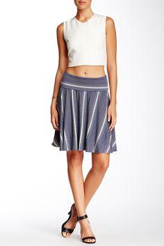 Max Studio A-Line Striped Jersey Skirt  Price : 68.00$ Sale Off Price: 22.97$