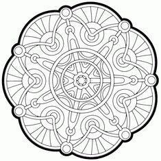 Cathedral Coloring Page By Jamar Johnson - (coloring) Blank Coloring Pages, Coloring Pages For Kids, Coloring Sheets, Coloring Books, Mandala Design, Mandala Art, Doodle Pages, Color Me Beautiful, Mandala Coloring