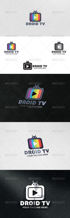 Droid TV  - Logo Design Template Vector #logotype Download it here: http://graphicriver.net/item/droid-tv-logo-template/6059159?s_rank=903?ref=nesto