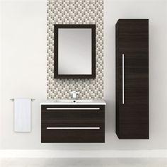 Clean Lines Vanities Gray Vanity And Trough Sink