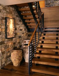 Wilson Mountain Residence - rustique - Escalier - Other Metro - Poss Architecture + Planning + Interior Design