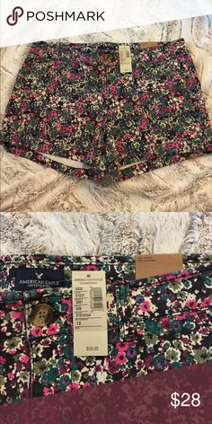 """NWT American Eagle Floral Midi Shorts NWT American Eagle floral Midi shorts. 3"""" inseam. Great shorts for a vibrant summer outfit! American Eagle Outfitters Shorts"""