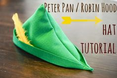 Continuing the theme from yesterday's post, today is a tutorial on how to make a simple (but completely enchanting) felt Peter Pan/Robin Hood hat.    I made these dashing caps for One Stone Event's clever Feathers and Arrows fairy tale mash-up party.