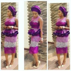 Pink Colour Combinations Aso Ebi Style Blouse and Skirt - DeZango Fashion Zone