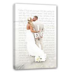 Holiday gift idea for Him, Personalized photo gift for Couple  #Cotton #wedding anniversary present #signage Photos printed on canvas WITH words!