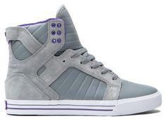 SUPRA SKYTOP GREY PURPLE WHITE SZ 8.5 – 12 MUSKA TK SKY TOP - #Sneakers.... Purple and yellow would look badass on these