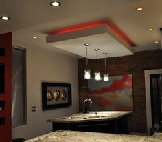 modern false ceiling design for kitchen. Kitchen  Decorate The with Neon Lighting Captivating Red Design Ideas In Ceiling gibson board ceiling suspended false design for modern kitchen