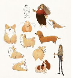 sketchdump; altho don't tell my dog I draw corgis shh