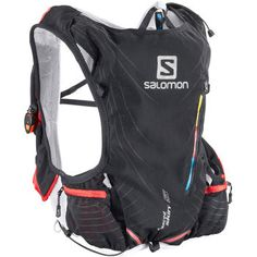 The formfitting Salomon Advanced Skin S-Lab 5 Set hydration pack is built for intense trail running. Best Trail Running Shoes, Running Gear, Trail Shoes, Running Apparel, Running In The Heat, Running Accessories, Hydration Pack, Thing 1, Ski Boots