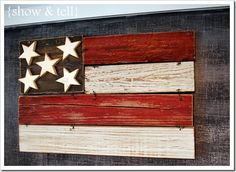 4th of July Wooden Flag......easy & would be great around my house