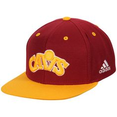 Cleveland Cavaliers adidas Jersey Hook Snapback Adjustable Hat - Wine/Gold
