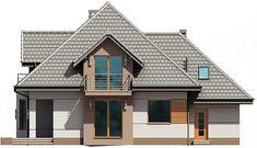 Projekt domu Śnieżka N 129,49 m2 - koszt budowy 220 tys. zł - EXTRADOM Brick Siding, Dormer Windows, Bungalow House Design, Design Case, Window Wall, Home Fashion, My Dream Home, House Plans, Villa