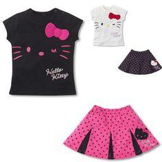 Conjunto Hello Kitty /saia e blusa