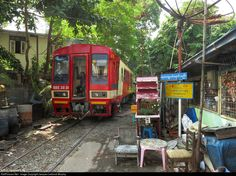 Also known as the Strand Road Railway, The Yangon Harbour Railway runs mostly along its namesake road on the city's waterfront. To get there, though, it winds its way around buildings and through the city's back alleys. In addition to freight trains serving the port (which I never saw, but according to one source I found, about 10 freights a day originate or terminate there) the line plays host to a recently-inaugurated commuter service which makes use of these RBE-class diesel-powered…