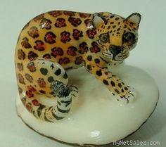 Wounaan Tribe Ocelot Jaguar Mountain Lion Tagua Cat Tagua Carving Panama 3 58412 | eBay