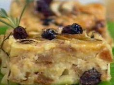 Pudim de Pão Com Maçãs e Figos Secos - Veja como fazer em: http://cybercook.com.br/receita-de-pudim-de-pao-com-macas-e-figos-secos-r-7-46952.html?pinterest-rec