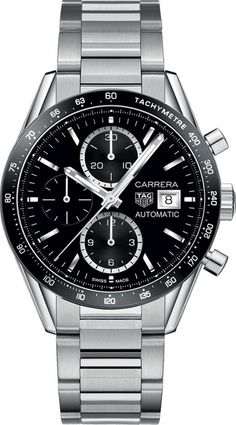 TAG Heuer Carrera Calibre 16 Men's Watch - Best Price Online - Free Overnight Shipping - Free Bracelet Sizing - Family Owned Since Men's Accessories, Carrera Watch, Herren Chronograph, Tag Heuer Carrera Calibre, Silver Pocket Watch, Swiss Army Watches, Estilo Fashion, Men's Fashion, Beautiful Watches