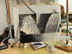 Rebecca Mezoff, Tapestry Artist  Work shown using a Mirrix Loom
