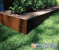 Corten Steel Edges For The Garden And Lawn Garden Structures Pinterest Corten Steel Lawn