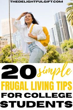 Find out which frugal living ideas will work perfectly for you as a college student. These are the ones that I have personally tried and worked really well for me. They are amazing frugal living for beginners that you can easily incorporate into your daily routine in college. You will find these tips on how to live on little money in college very simple to follow. College Life Hacks, College Tips, Teaching Kids Money, Study Tips For Students, Money Management Books, University Life, Frugal Living Tips, College Students, Productivity Hacks