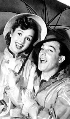 Debbie Reynolds and Gene Kelly in Singing in the Rain; one of the best musicals ever made...