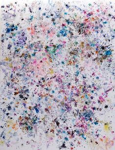 Dan Colen, Eviction Party, 2010, Flower on canvas, Gagosian