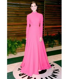 @Who What Wear - Allison Williams                 A high neckline, like Williams' Emilia Wickstead gown, is unpredictably sexy, especially when paired with pulled back hair, which elongates the neck.  ​On Williams: Emilia Wickstead gown from the F/W 14 collection.