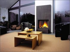 Awesome Fireplace In Living Room - Modern Living Room With Fireplace Design Ideas Living Room Modern, Living Room Interior, Living Room Designs, Living Rooms, House Extension Design, House Design, Fireplace Mantle Designs, Fireplace Wall, Fireplace Modern