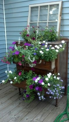 Dresser planter I would love this for my porch!!