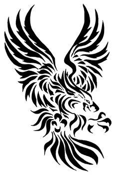 Outer Vision Burned Tattoo T-ShirtEmp. Wolf Tattoos, Tribal Tattoos, Tribal Eagle Tattoo, Tribal Art, Tribal Prints, Burn Tattoo, Animals Vector, Eagle Artwork, Hirsch Tattoo